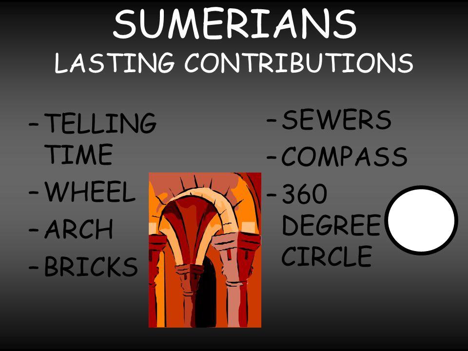 SUMERIANS LASTING CONTRIBUTIONS