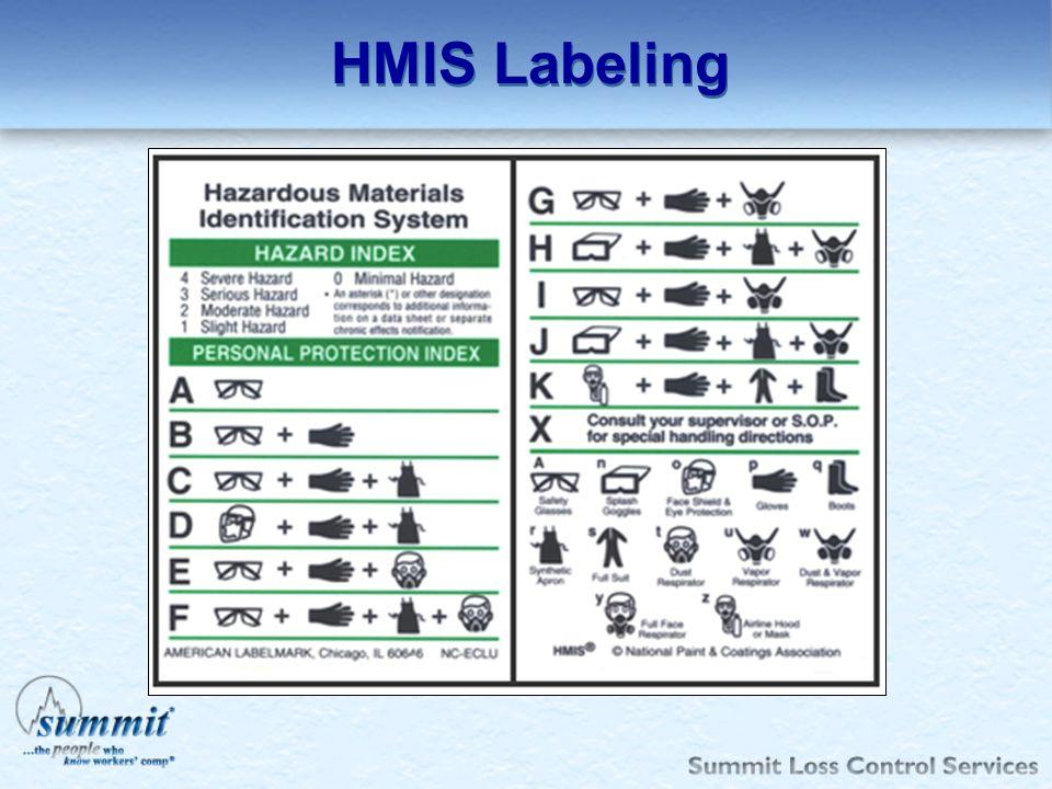 HMIS Labeling