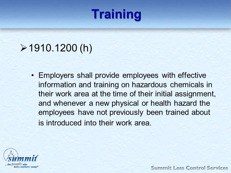 Training 1910.1200 (h)