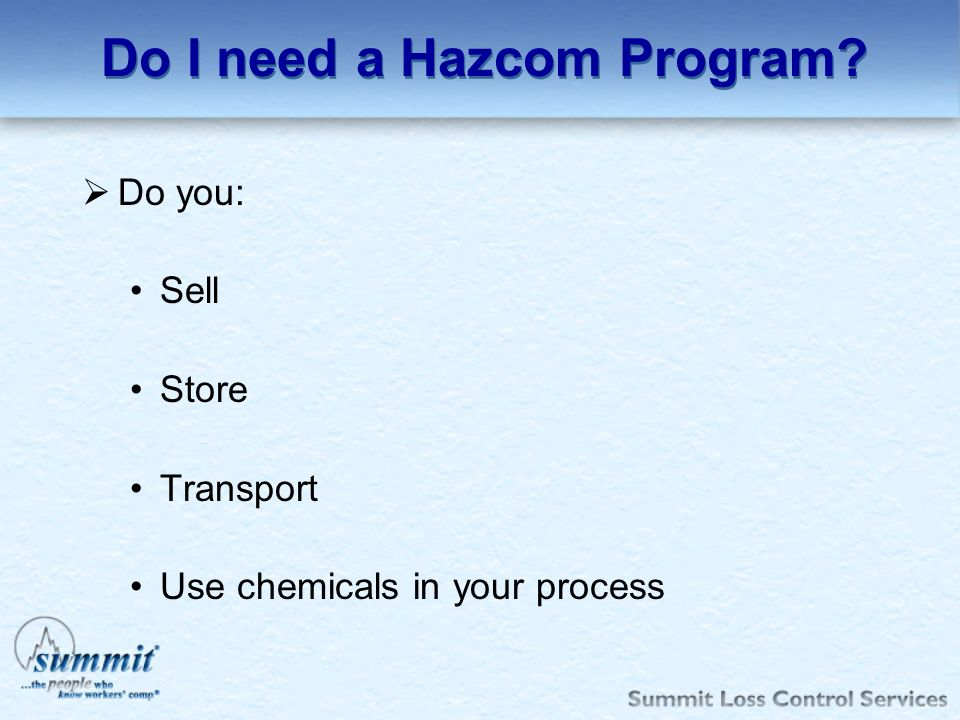 Do I need a Hazcom Program