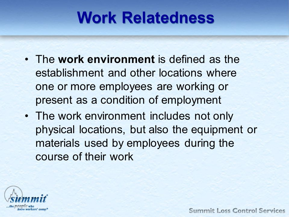 Work Relatedness