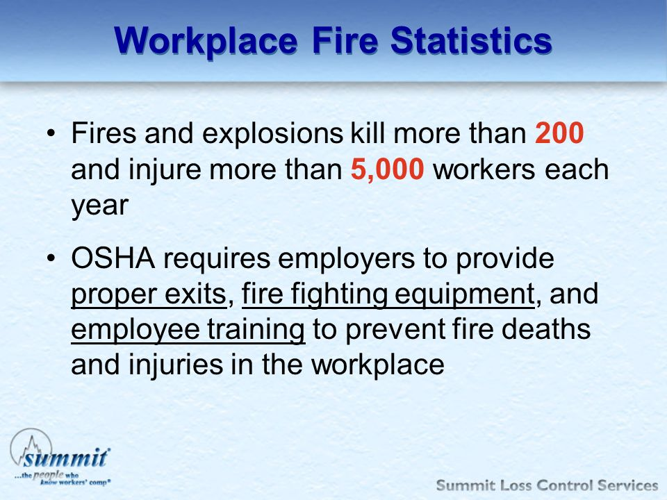 Workplace Fire Statistics