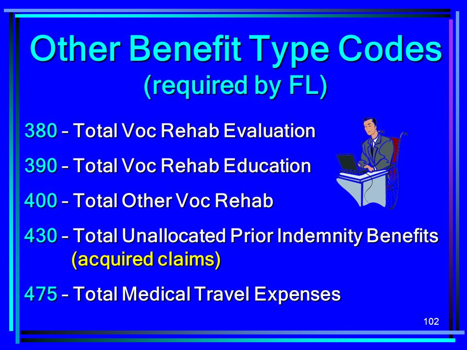 Other Benefit Type Codes (required by FL)