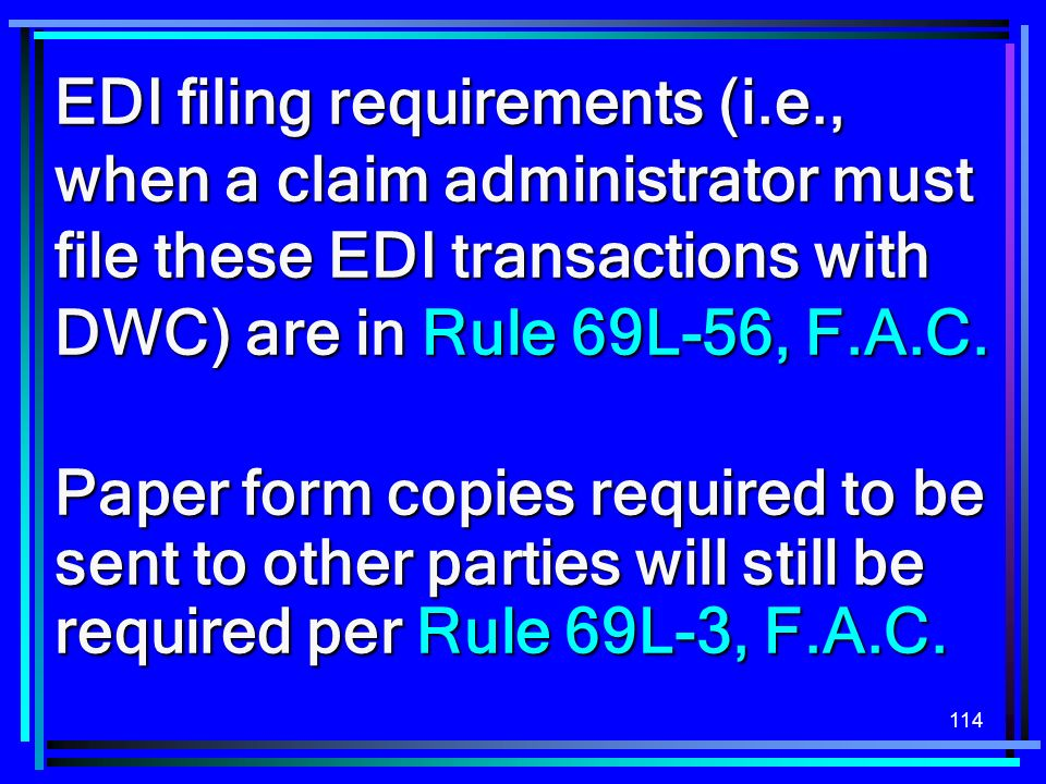 EDI filing requirements (i. e