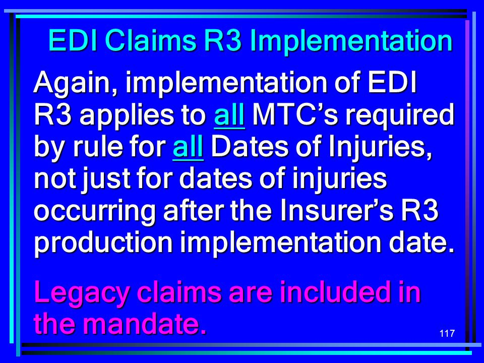 EDI Claims R3 Implementation