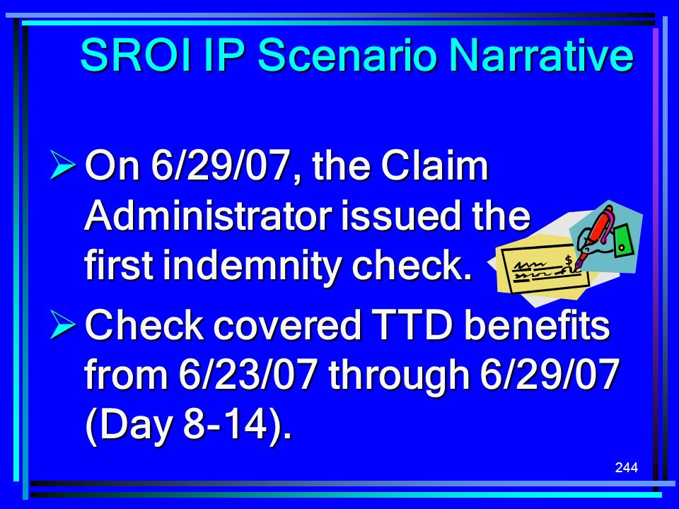 SROI IP Scenario Narrative