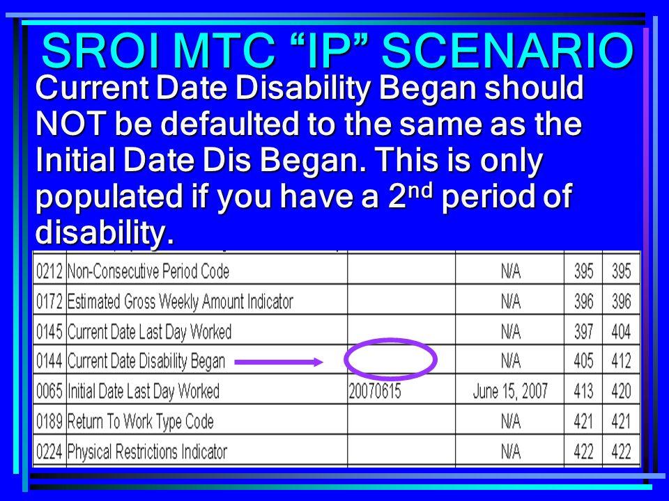 SROI MTC IP SCENARIO