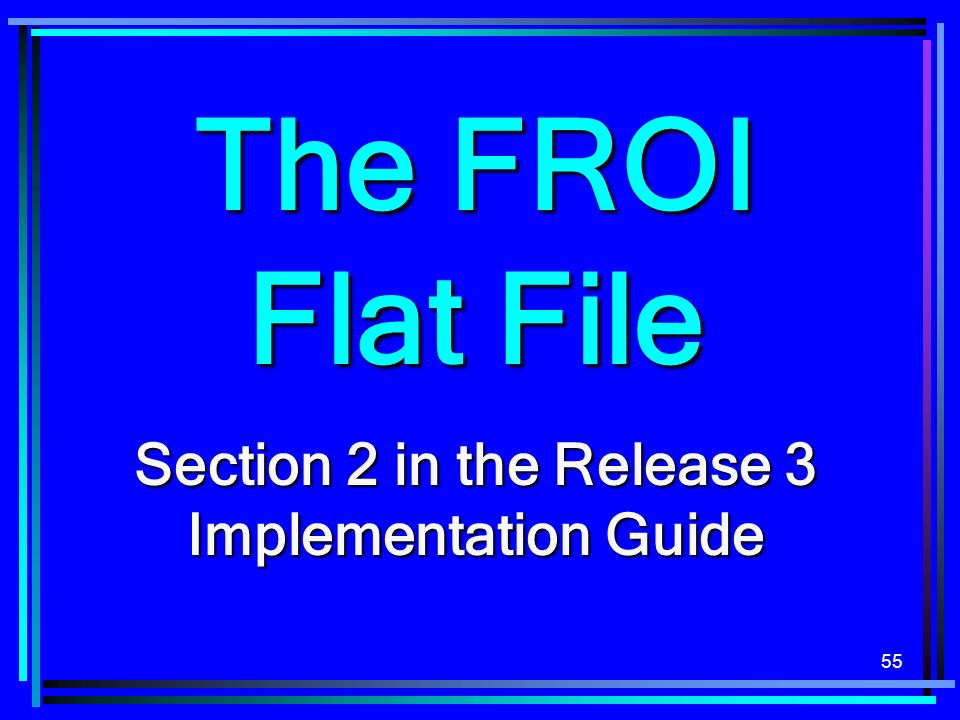 Section 2 in the Release 3 Implementation Guide