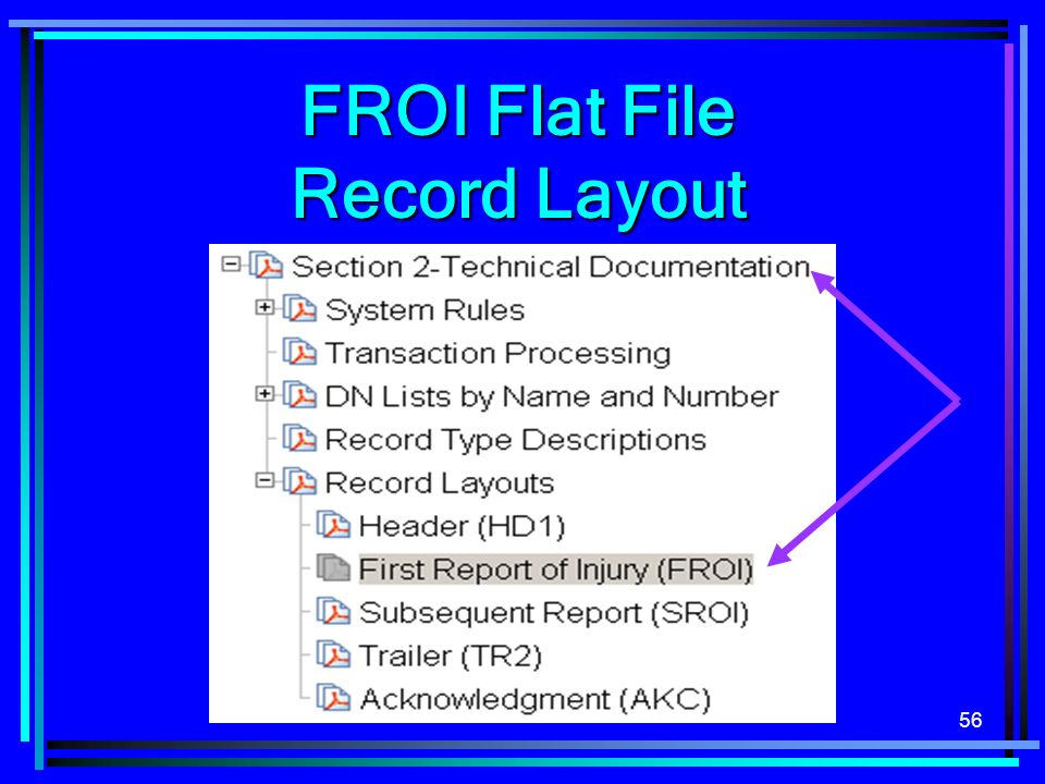 FROI Flat File Record Layout