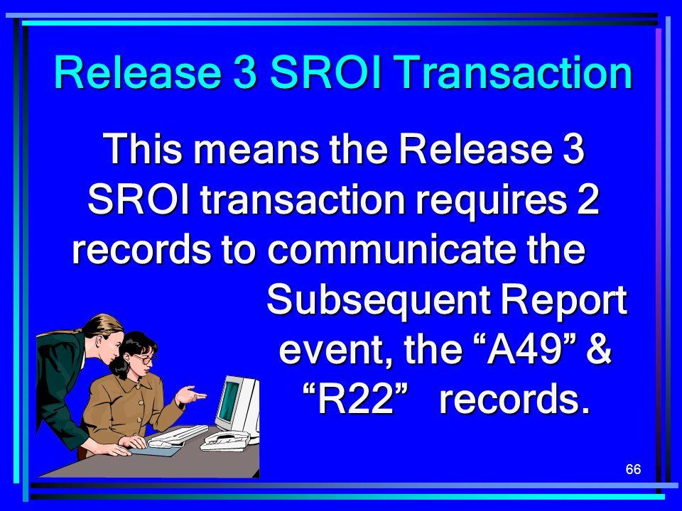 Release 3 SROI Transaction