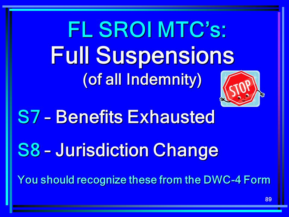 Full Suspensions (of all Indemnity)