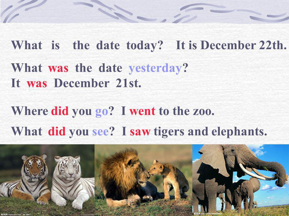 What is the date today It is December 22th.