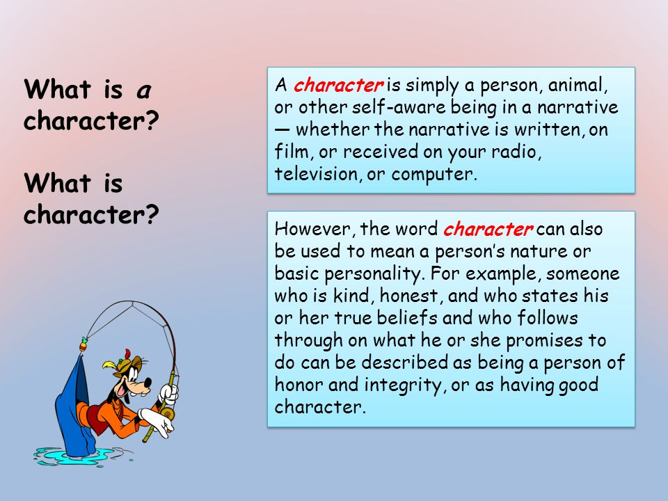 What is a character What is character