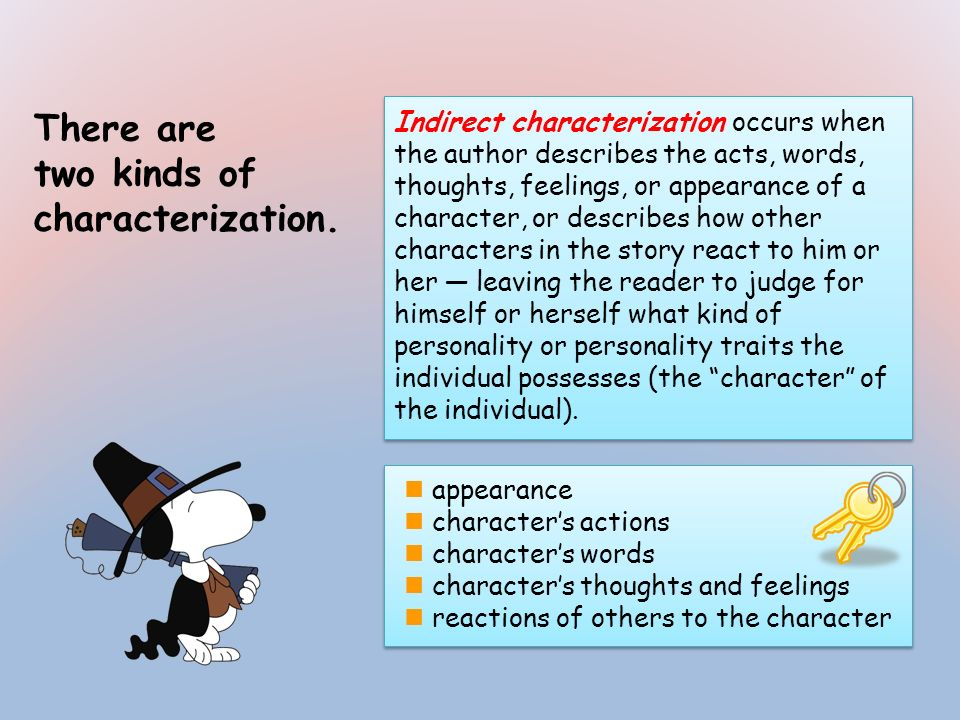two kinds of characterization.