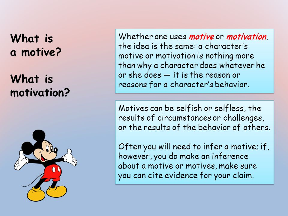 What is a motive What is motivation
