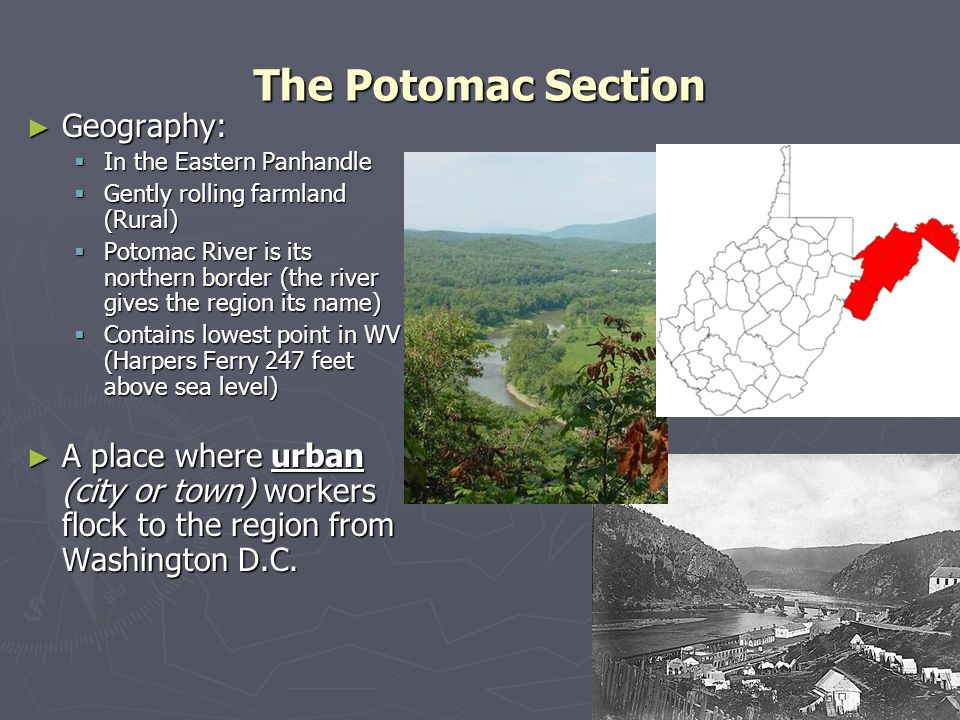 The Potomac Section Geography: