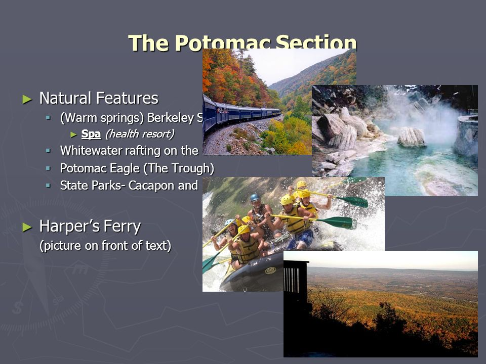 The Potomac Section Natural Features Harper's Ferry