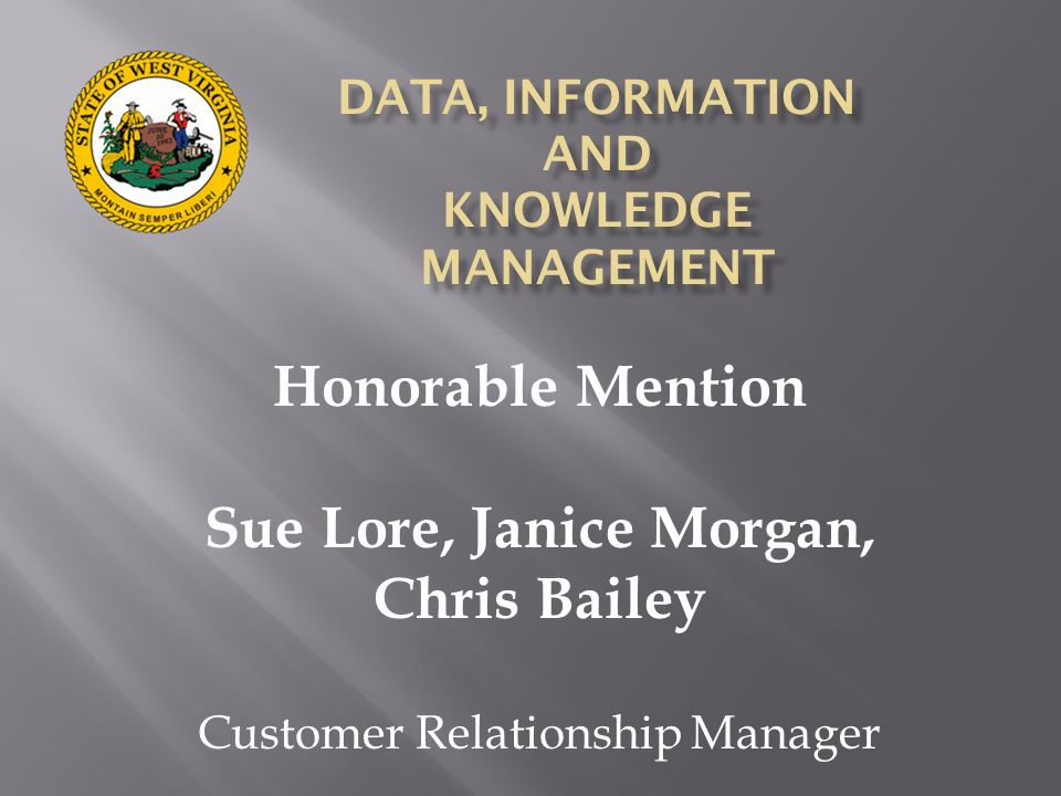 DATA, INFORMATION AND KNOWLEDGE MANAGEMENT