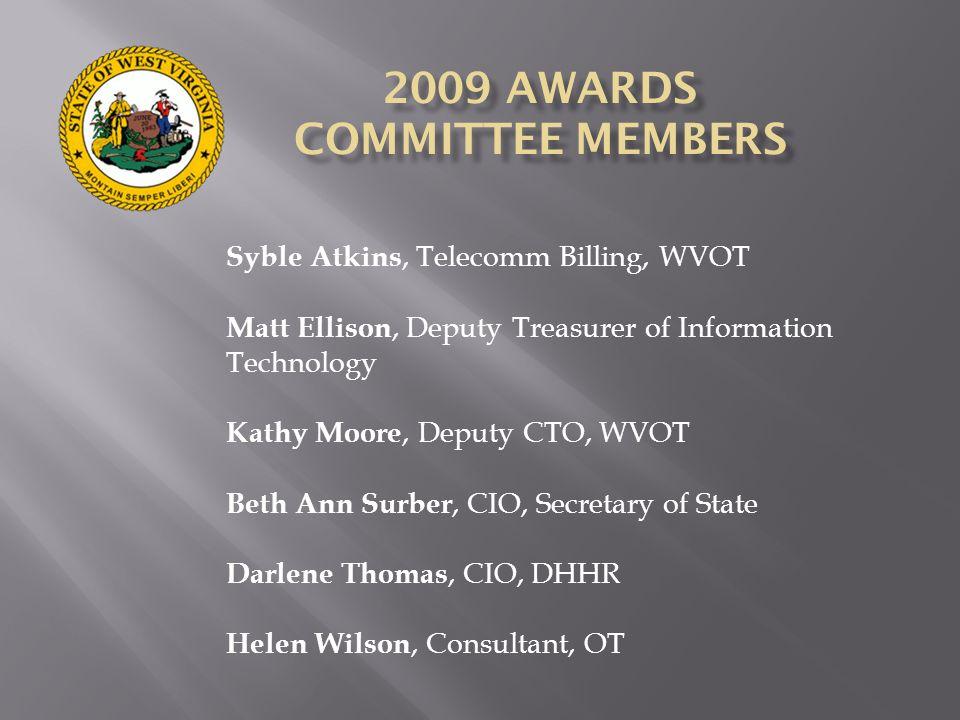 2009 AWARDS COMMITTEE MEMBERS