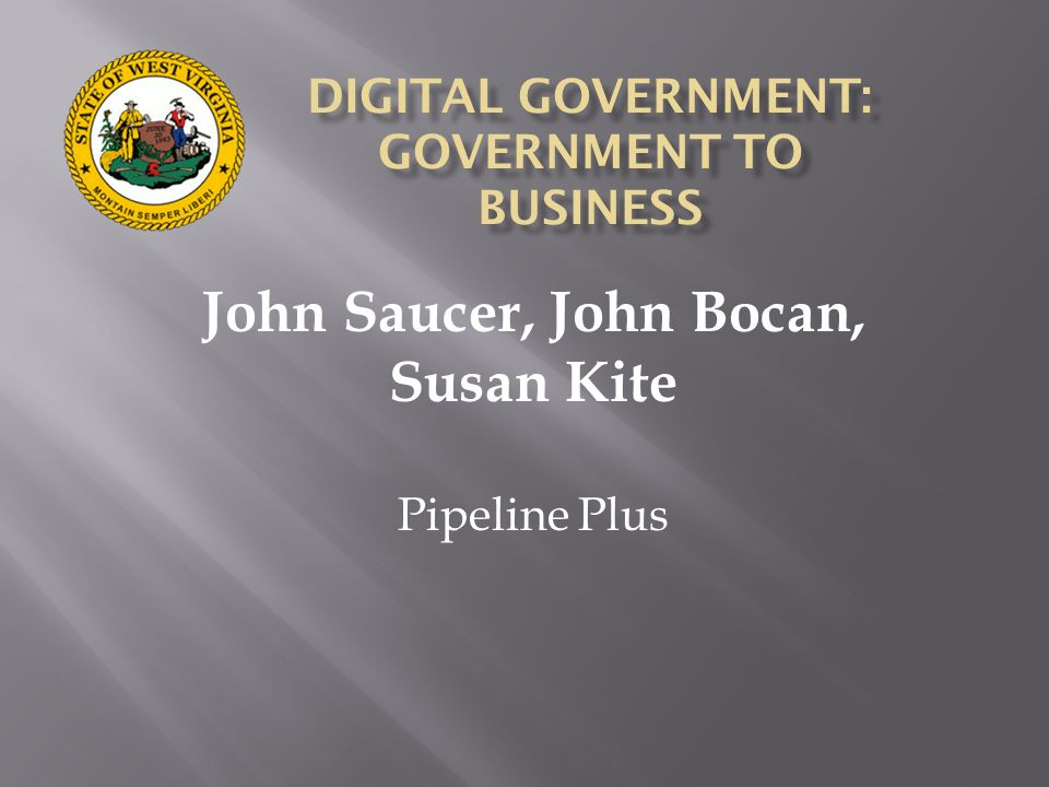 DIGITAL GOVERNMENT: GOVERNMENT TO BUSINESS