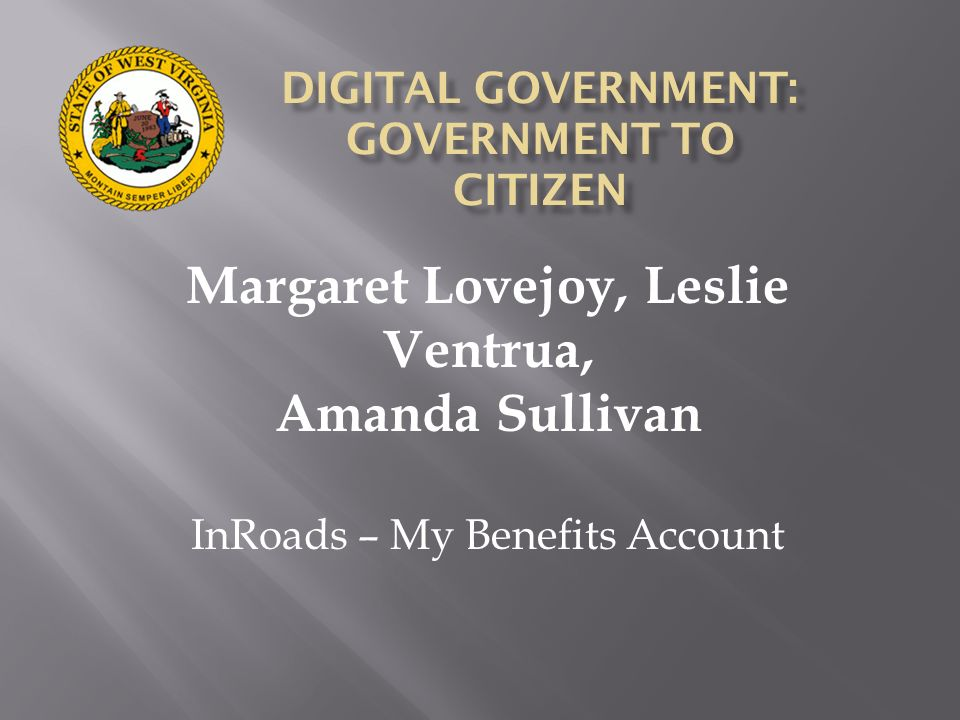 DIGITAL GOVERNMENT: GOVERNMENT TO CITIZEN