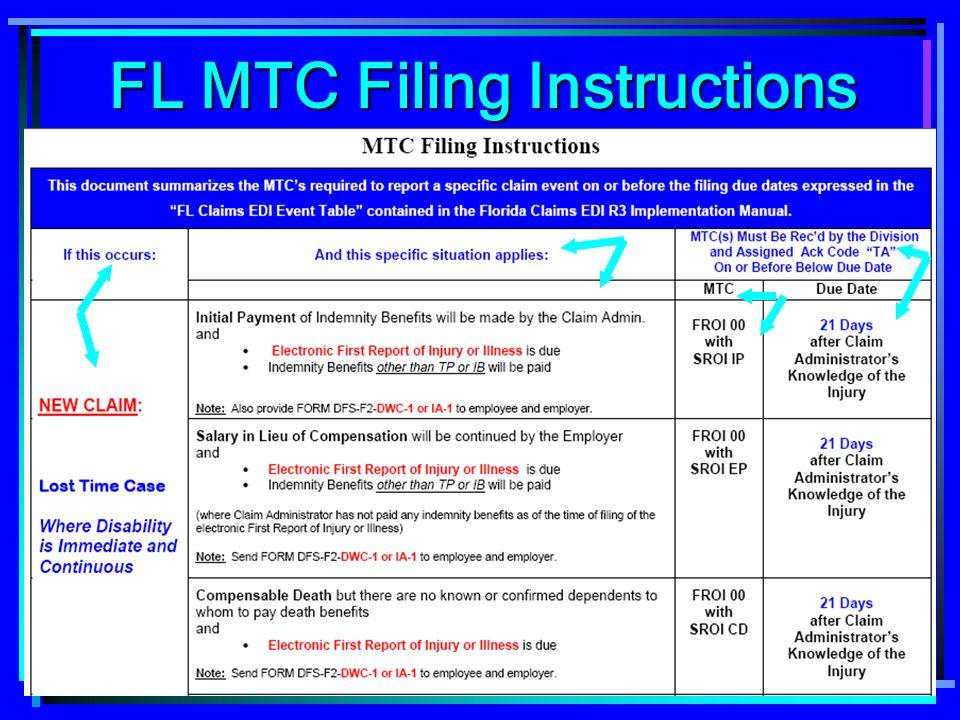 FL MTC Filing Instructions