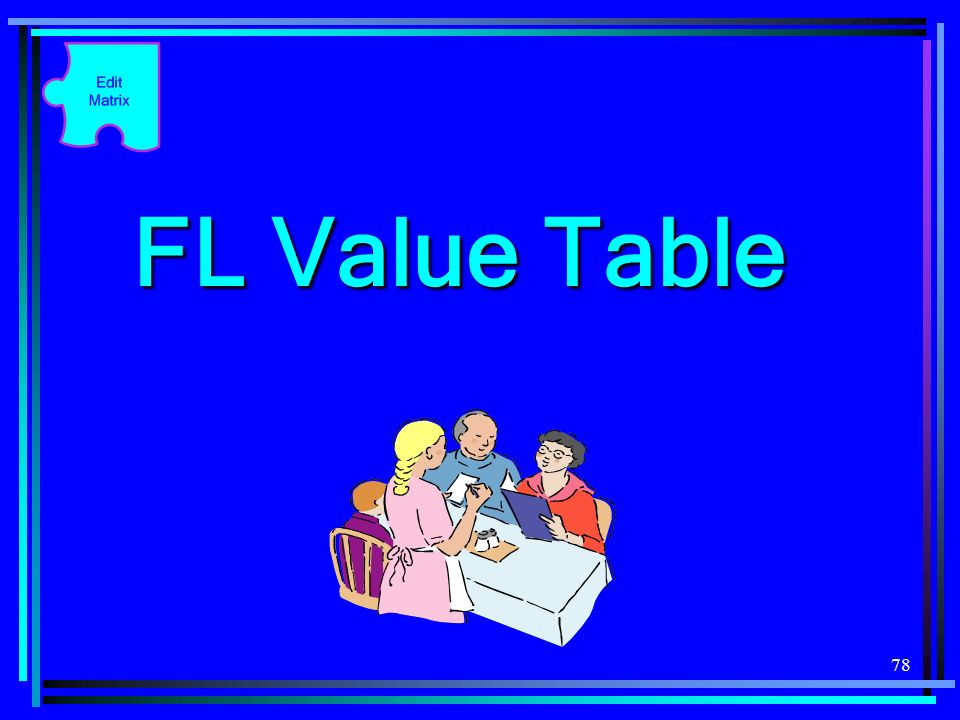 FL Value Table