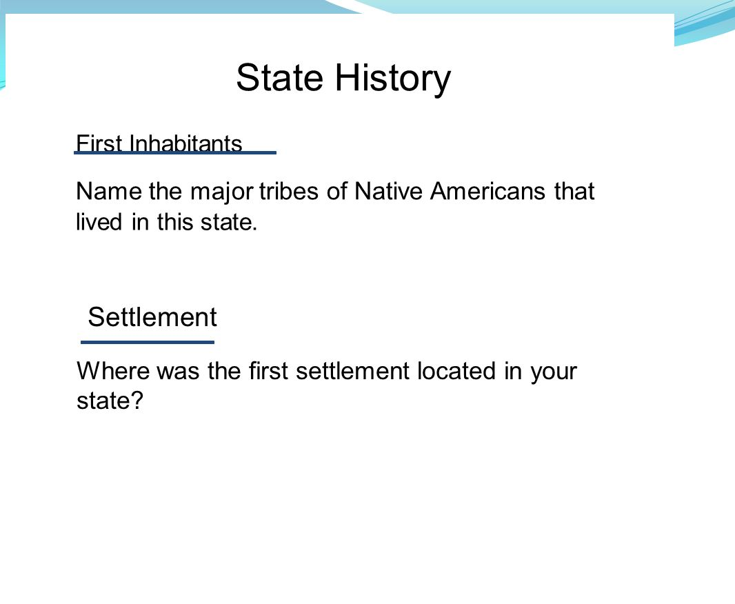 State History Settlement
