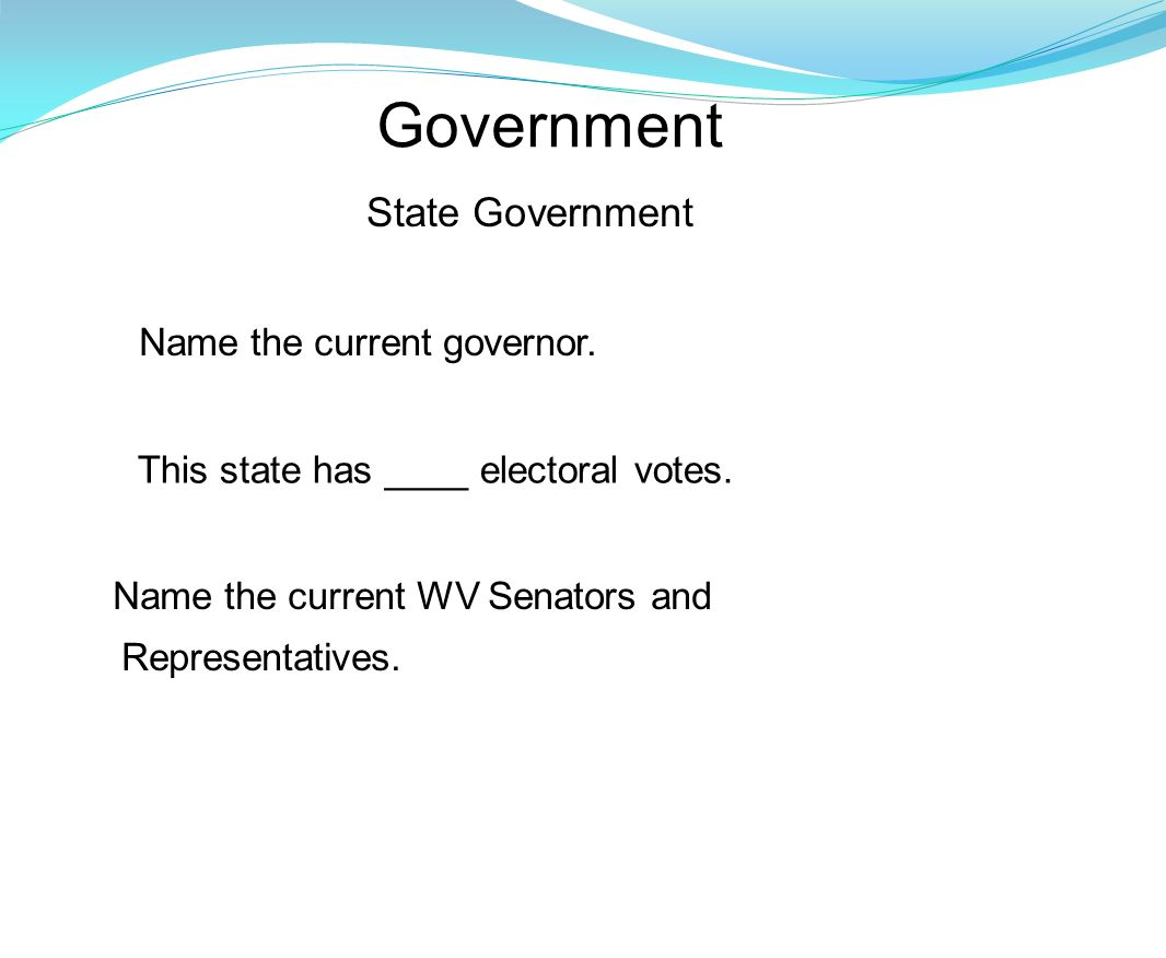 Government State Government Name the current governor.