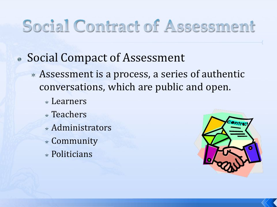 Social Contract of Assessment