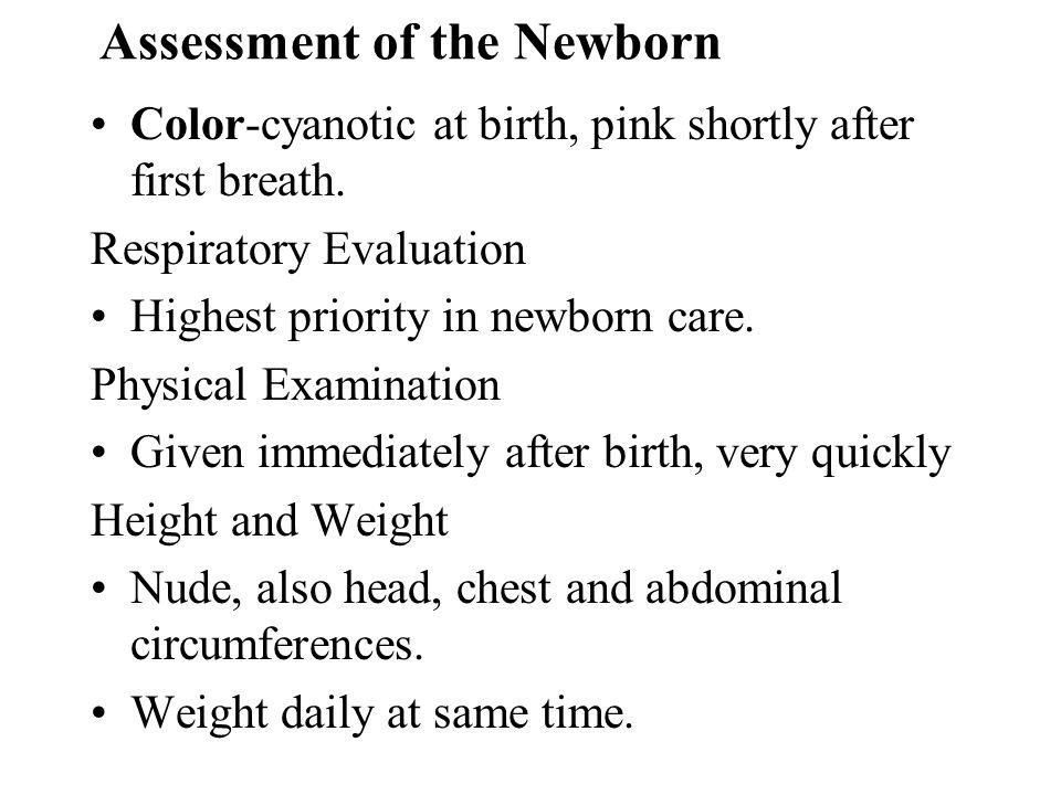 Assessment of the Newborn
