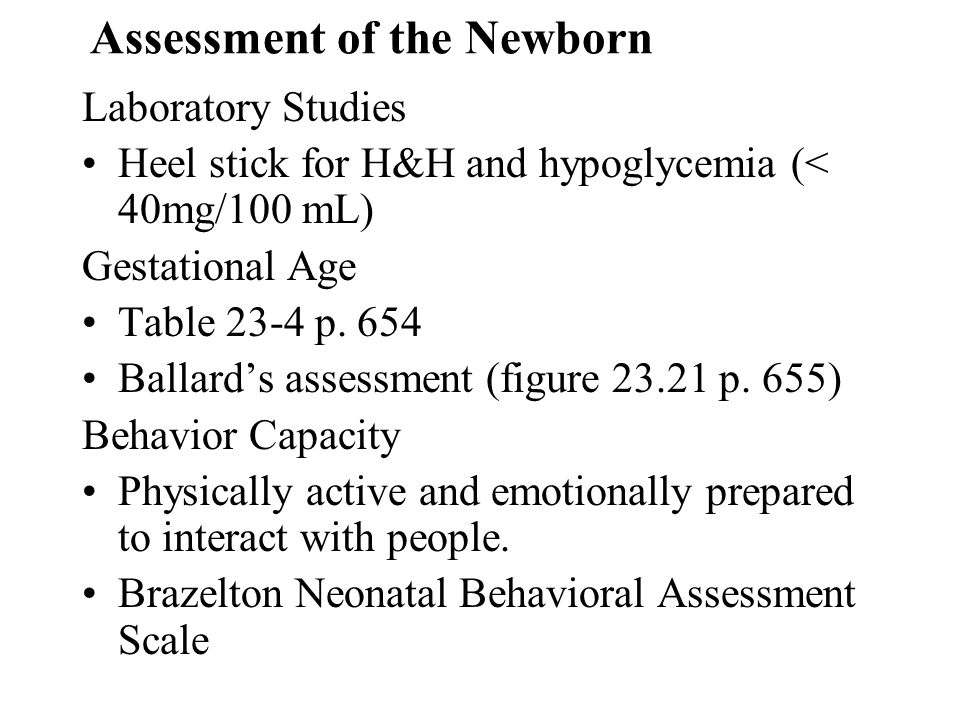 Assessment of the Newborn
