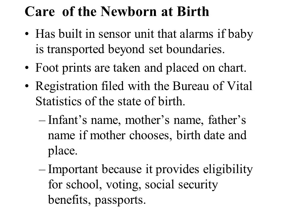 Care of the Newborn at Birth