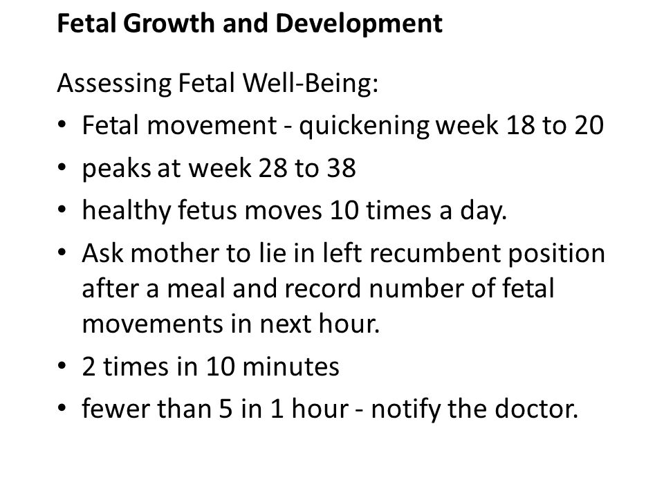 Fetal Growth and Development