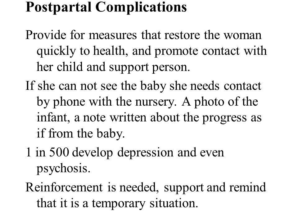 Postpartal Complications