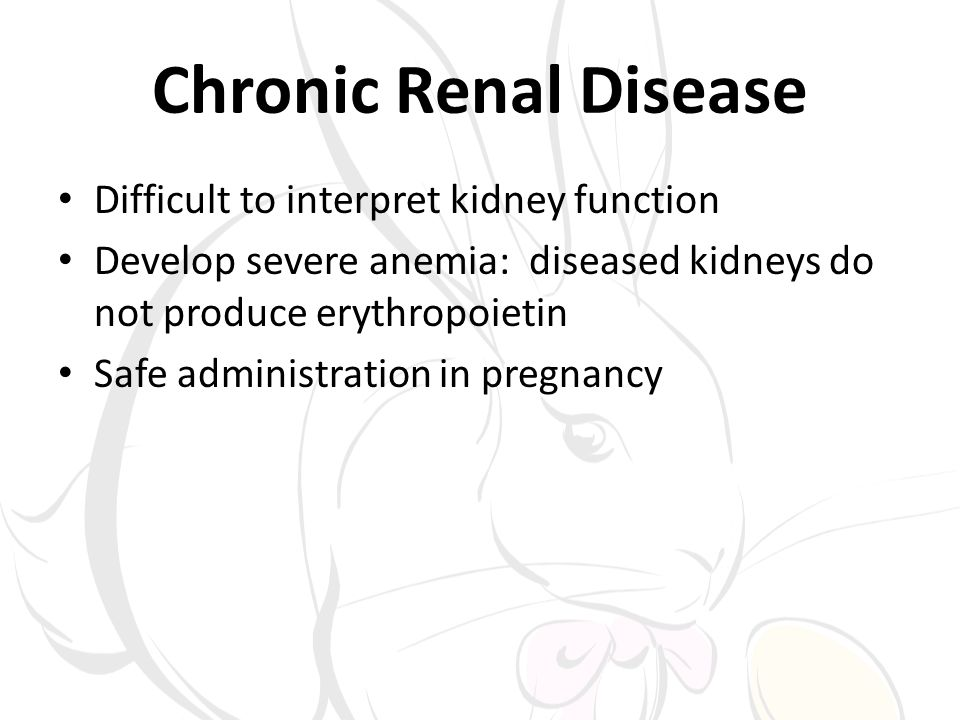 Chronic Renal Disease Difficult to interpret kidney function