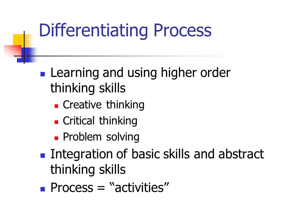 Differentiating Process