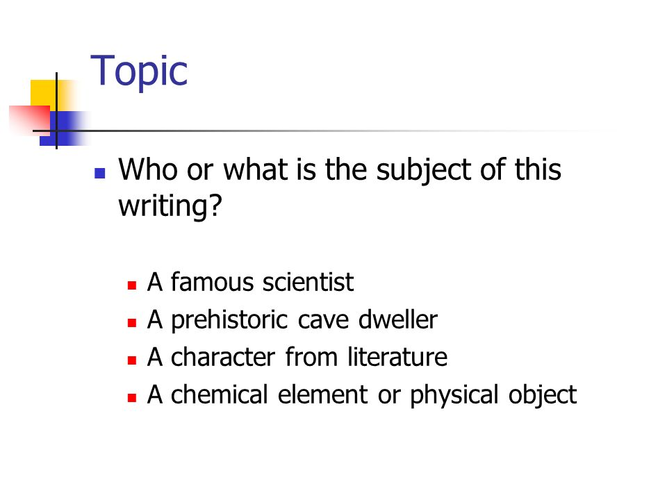Topic Who or what is the subject of this writing A famous scientist