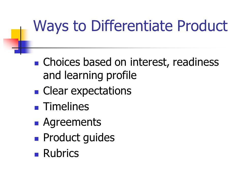 Ways to Differentiate Product