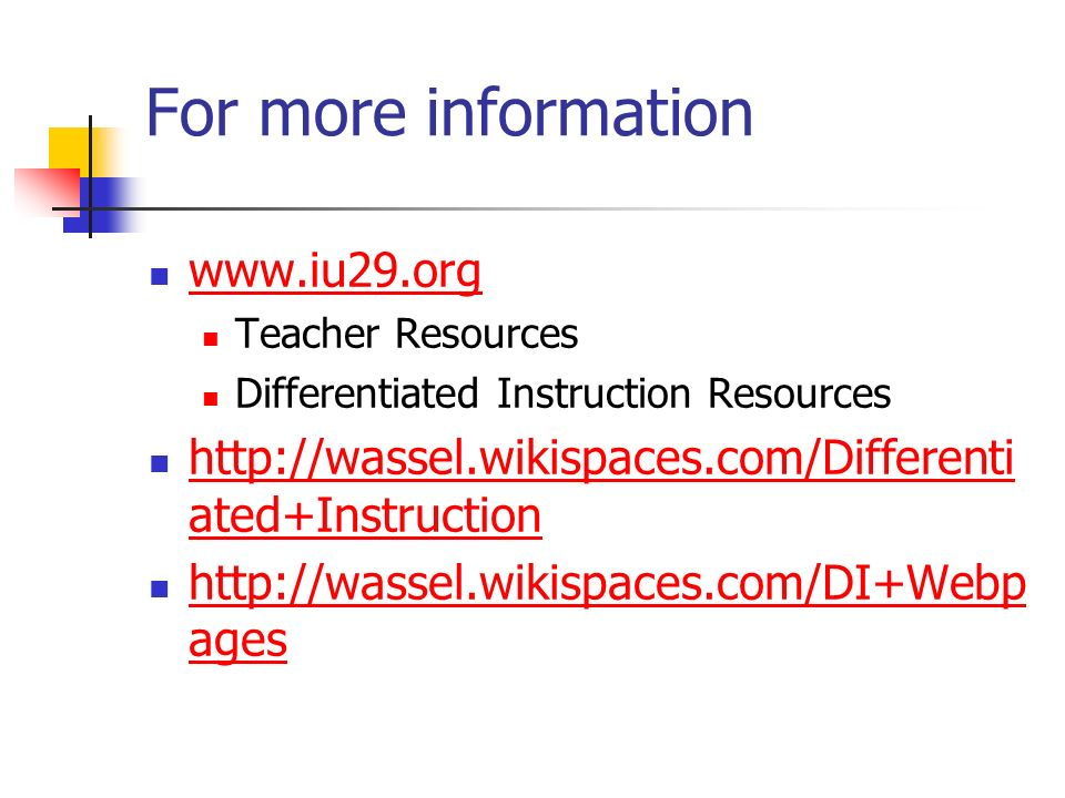 For more information www.iu29.org