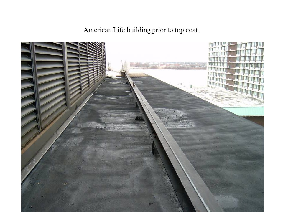 American Life building prior to top coat.