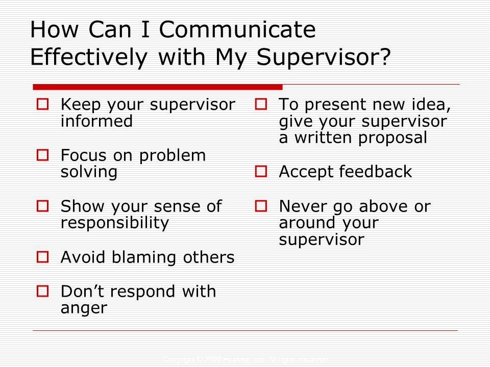 How Can I Communicate Effectively with My Supervisor