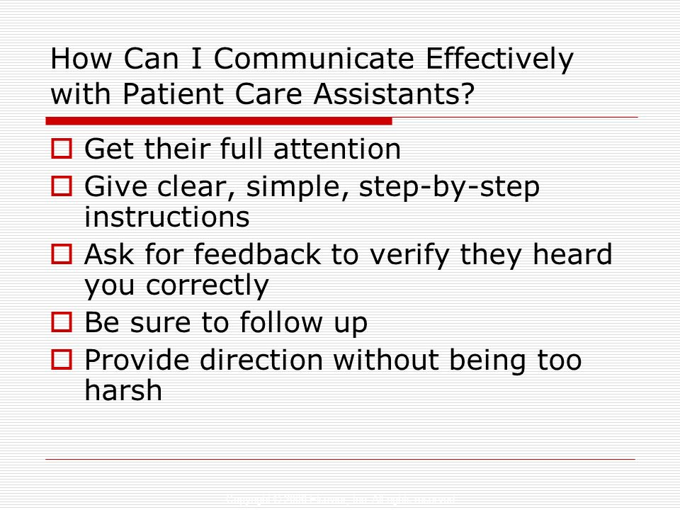How Can I Communicate Effectively with Patient Care Assistants