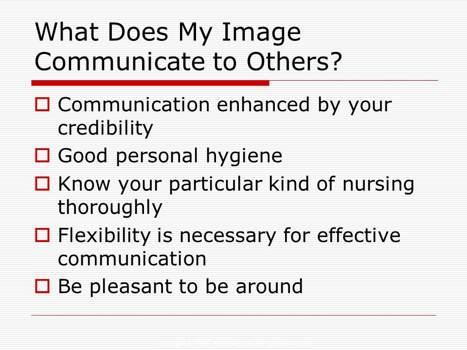 What Does My Image Communicate to Others