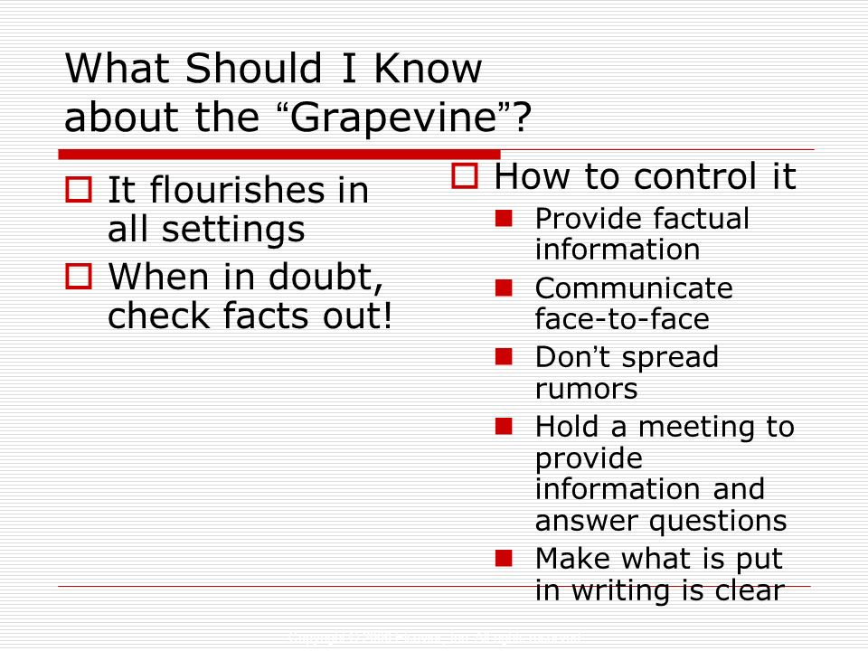 What Should I Know about the Grapevine