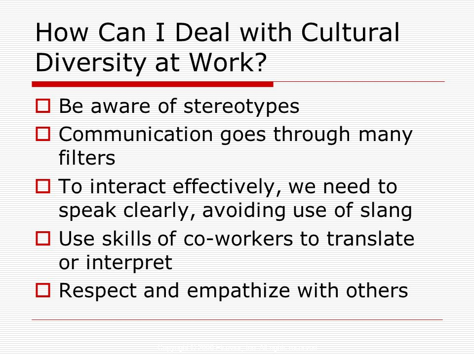How Can I Deal with Cultural Diversity at Work