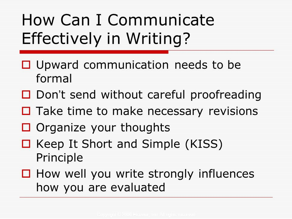 how to write and speak effectively