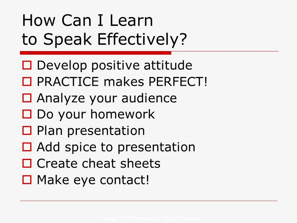 How Can I Learn to Speak Effectively