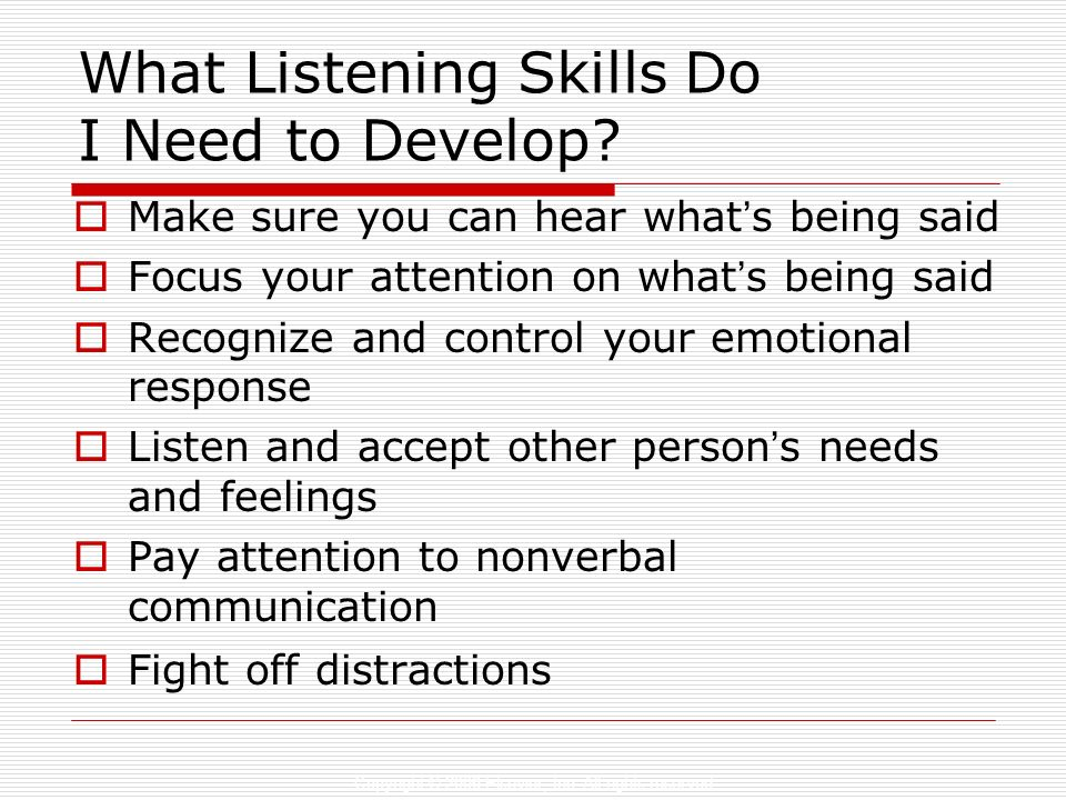 What Listening Skills Do I Need to Develop