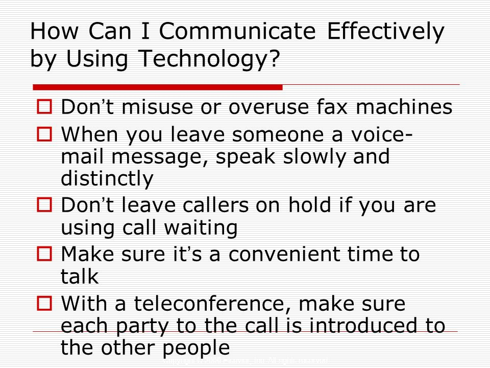 How Can I Communicate Effectively by Using Technology